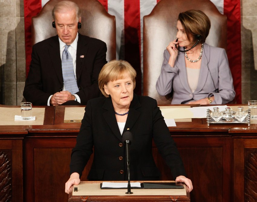 2009 - Chancellor Angela Merkel before the US Congress
