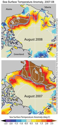 2008-09 Sea Surface Temperature Anomolies 2007-2009