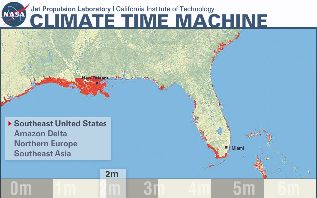 Sea Level Rise Research Summary Last Update OSS - Projected sea level rise map