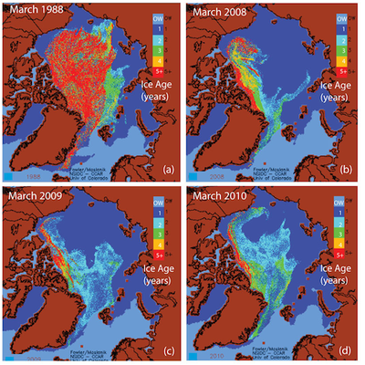 NOAA Arctic Report - multi-year ice loss. Source: http://www.arctic.noaa.gov/reportcard/seaice.html