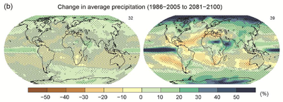 IPCC AR5 WGI Change in average precipitation 1986-2005 2081-2100