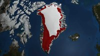 2007 (1979-2007) Annual Accumulated Melt over Greenland